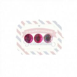 Set cristalli rosa 7 mm - 50 pezzi