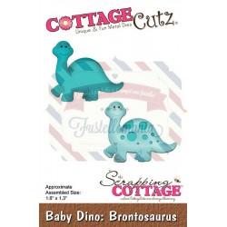 Fustella metallica Cottage Cutz Baby Dino Brontosaurus