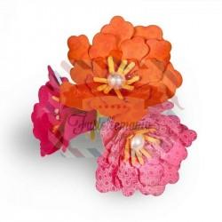 Fustella Sizzix Thinlits Fiore laminato