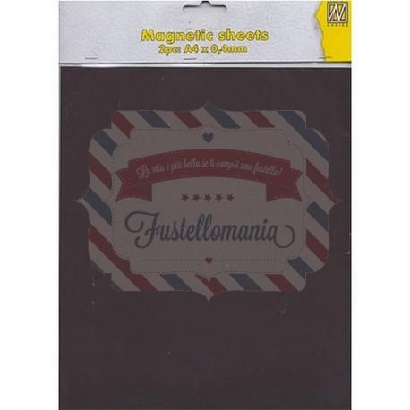Fustella metallica Nellie's Choice Fogli magnetici A4 coppia