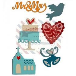 Fustella Sizzix Thinlits Wedding Set