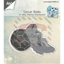 Fustella metallica Joy! Crafts Scarpe e pallone da calcio 3D