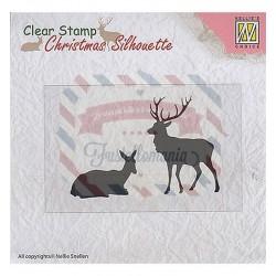 Timbro Nellie's Choice Christmas Silhouette Reindeer