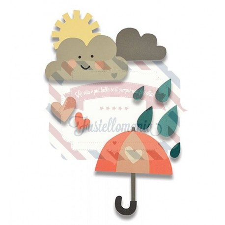 Fustella Sizzix Thinlits Rainy Days & Sunshine 2