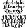 Fustella metallica Marianne Design Craftables Brush Alphabet