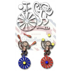 Fustella metallica Circus Monkey