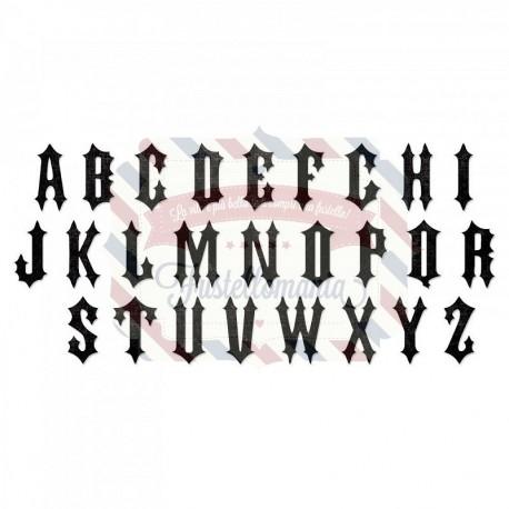 Fustella Sizzix Alphabet Gothic by Tim Holtz