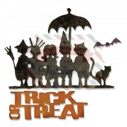 Fustella Sizzix Thinlits Trick or Treat Dolcetto o Scherzetto