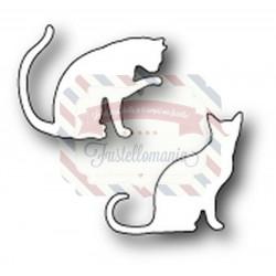Fustella metallica PoppyStamps Cozy Kitties