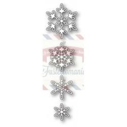 Fustella metallica PoppyStamps Evangeline Snowflakes