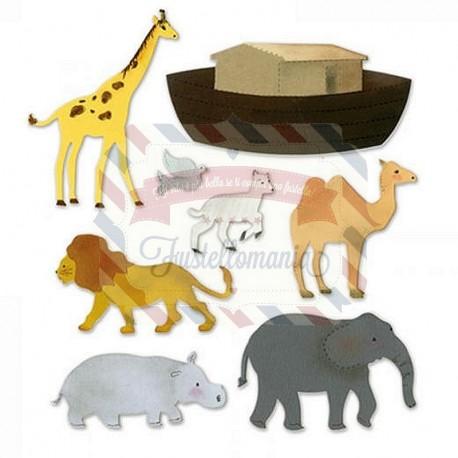 Fustella Sizzix XL Noah's Ark with Animals