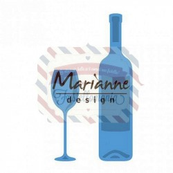 Fustella metallica Marianne Design Creatables Wine Bottle & Glass