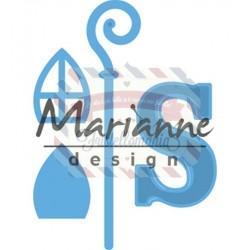 Fustella metallica Marianne Design Creatables Sinterklass