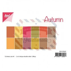 Carta da scrapbooking Joycrafts Paper Set A4 Matching Colors Uni Herfst