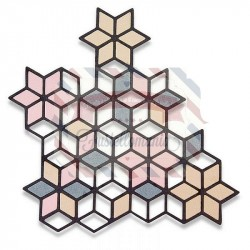 Fustella Sizzix Thinlits Diamond Cluster by Debi Potter
