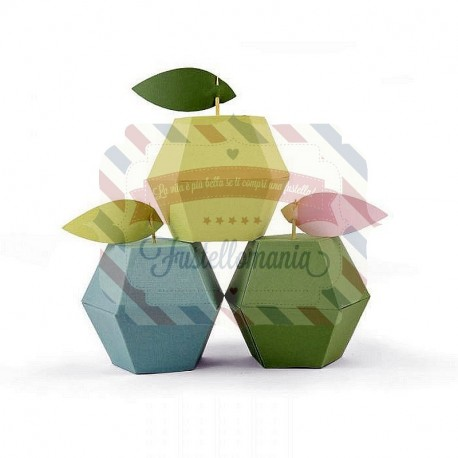 Fustella Sizzix Thinlits Apple Box by Debi Potter