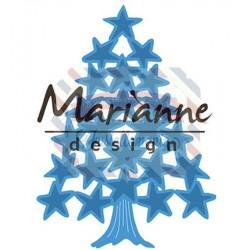 Fustella metallica Marianne Design Creatables Tiny's Christmas tree with stars