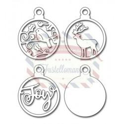 Fustella metallica Penny Black Joyful Ornaments