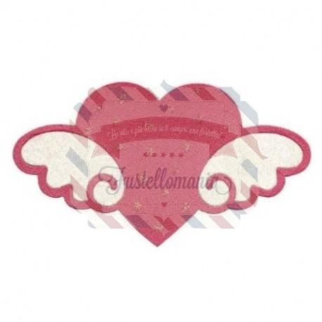Fustella Sizzix Bigz Hello Kitty cuore con ali