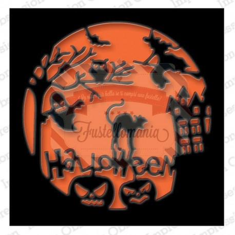 Fustella metallica Halloween Scene