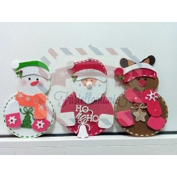 Portaposate A4 Babbo Natale Renna Pupazzo di neve