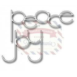 Fustella metallica Slender peace and joy