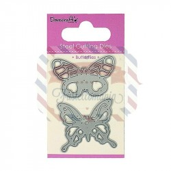 Fustella metallica Dovecraft Butterflies Duo