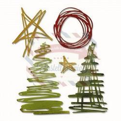 Fustella Sizzix Thinlits Festive Scribbles by Tim Holtz