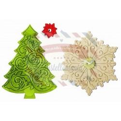 Fustella Sizzix Bigz & Emboss Christmas Tree & Snowflake