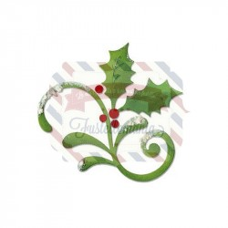 Fustella Sizzix Bigz Holly & Mistletoe Flourish