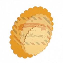 Fustella Sizzix Framelits Ovali dentellati