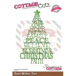 Fustella metallica Cottage Cutz Good Wishes Tree (Elites)