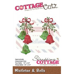 Fustella metallica Cottage Cutz Mistletoe & Bells