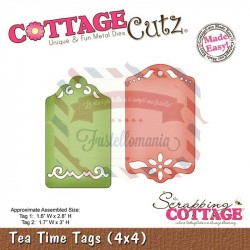 Fustella metallica Cottage Cutz Tea Time Tags