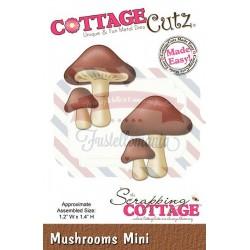 Fustella metallica Cottage Cutz Mushrooms Mini
